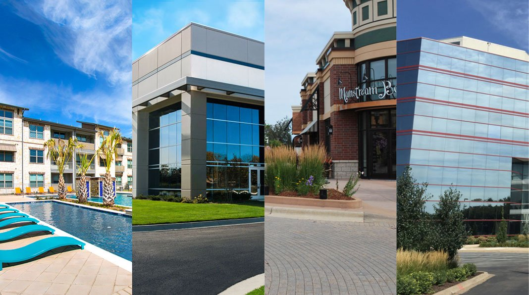 MLG private real estate funds mitigate risk with diversification of investment properties.